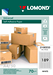 Samolepiace etikety Lomond 189/25,4x10 A4, 50 hárkov